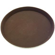 Δίσκος σερβιρίσματος αντιολισθητικός καφέ 27,5cm