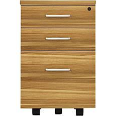 Συρταριέρα 3 συρταριών τικ μαύρη από μελαμίνη 40x40x62cm