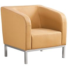 Πολυθρόνα γραφείου Pu μπεζ 77x72x78cm