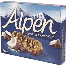 Μπάρες δημητριακών ALPEN coconut and chocolate (5τεμ.)