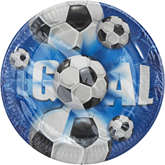 Πιάτα χάρτινα με σχέδιο Football 23cm (10τεμ.)