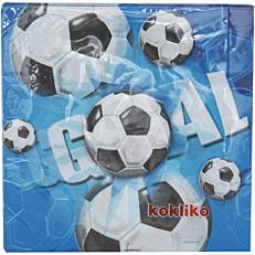 Χαρτοπετσέτες με σχέδιο Football 33x33cm δίφυλλες (20τεμ.)
