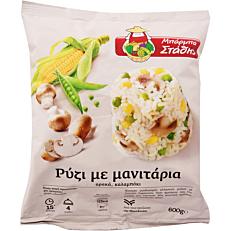 Ρύζι ΜΠΑΡΜΠΑ ΣΤΑΘΗΣ με μανιτάρια κατεψυγμένο (600g)