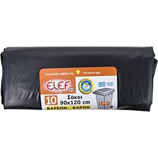 Σακούλες απορριμμάτων ELEF μεγάλες 90x120cm (10τεμ.)
