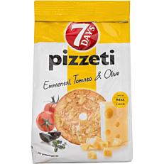 Αρτοσκεύασμα 7DAYS pizzeti τυρί, ντομάτα & ελιά (80g)