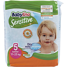 Πάνες BABYLINO Sensitive No.5, 11-25kg (18τεμ.)