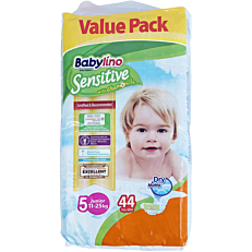 Πάνες BABYLINO Sensitive No.5, 11-25kg (44τεμ.)