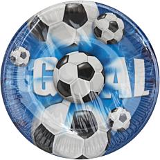 Πιάτα χάρτινα με σχέδιο Football 20cm (10τεμ.)