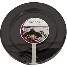 Πιάτα PS πλαστικά μαύρα 26cm (20τεμ.)