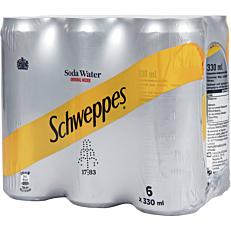 Αναψυκτικό SCHWEPPES σόδα (6x330ml)