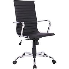 Πολυθρόνα γραφείου PU με βάση χρωμίου