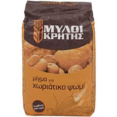Μείγμα ΜΥΛΟΙ ΚΡΗΤΗΣ για χωριάτικο ψωμί (1kg)