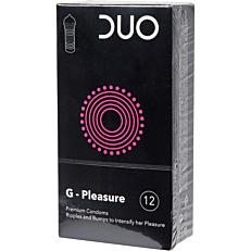 Προφυλακτικά DUO G-Pleasure (12τεμ.)