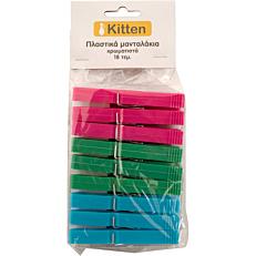 Μανταλάκια KITTEN χρωματιστά (18τεμ.)