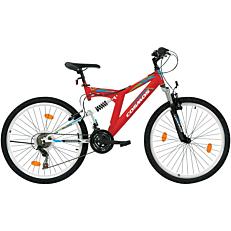 """Ποδήλατο COSMOS MTB 26"""" Columbia 18 ταχύτητες Unisex λευκό και μαύρο"""