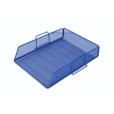 Δίσκος γραφείου Α4 με μεταλλικό δίχτυ, μπλε