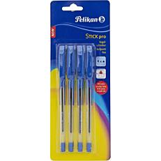 Στυλό διαρκείας PELIKAN prostick μπλε (4τεμ.)