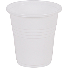 Ποτήρια MELODY TIME πλαστικά PP λευκά 100ml (50τεμ.)