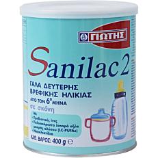 Γάλα σε σκόνη ΓΙΩΤΗΣ Sanilac 2 για παιδιά 2ης βρεφικής ηλικίας