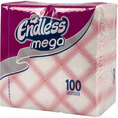 Χαρτοπετσέτες ENDLESS mega κόκκινες καρό 100φύλλα