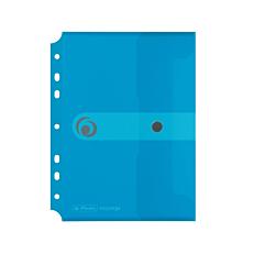 Φάκελος εγγράφων με κουμπί E.ORGA A5 με τρύπες διαφανής μπλε