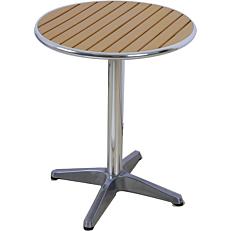 Τραπέζι MIMOSA GARDEN αλουμινίου non wood καφέ Φ60