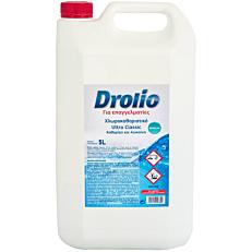 Χλωρολευκαντικό DROLIO ΓΙΑ ΕΠΑΓΓΕΛΜΑΤΙΕΣ Ultra clean (5lt)