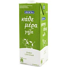 Γάλα ΜΕΒΓΑΛ Κάθε μέρα γάλα υψηλής παστερίωσης ελαφρύ 1,5% λιπαρά (1lt)