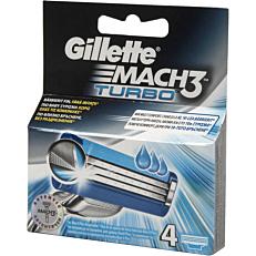 Ανταλλακτικά ξυραφάκια GILLETTE MACH3 turbo (4τεμ.)