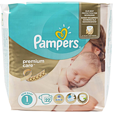 Πάνες PAMPERS premium care No.1 2-5kg (22τεμ.)