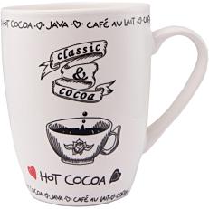 Κούπα με σχέδιο καφέ λευκή