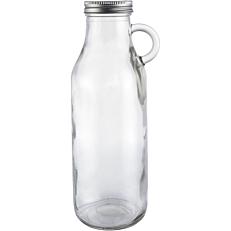 Μπουκάλι γυάλινο με χερούλι και βιδωτό καπάκι 1lt