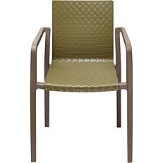 Καρέκλα πλαστική PP πράσινη, με γκρι σκελετό