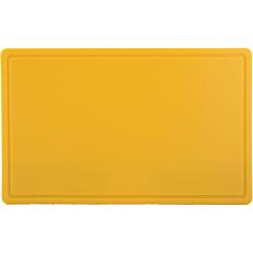 Πλάκα κοπής 2 όψεων η μία με αυλάκι GN 1/2 κίτρινη 26,5x32,4x1,2cm