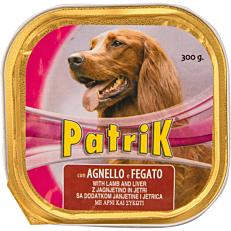 Τροφή PATRIK σκύλου με αρνί και συκώτι (300g)