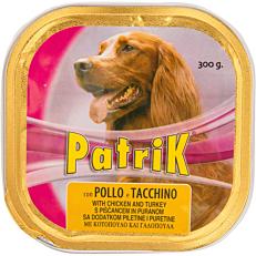 Τροφή PATRIK σκύλου με κοτόπουλο και γαλοπούλα (300g)