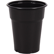 Ποτήρια πλαστικά PP μαύρα 300ml (50τεμ.)