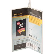 Βάση επιτραπέζια SECURIT, A6 τρίπτυχο, διαφανής