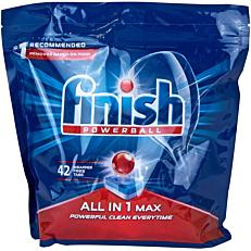 Απορρυπαντικό FINISH all in 1 regular πλυντηρίου πιάτων, σε κάψουλες (42τεμ.)