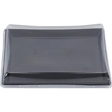 Σκεύη PP μαύρα με καπάκι 16x22cm (15σετ).