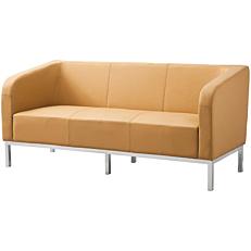 Καναπές 3θέσιος Pu μπεζ 174x72x78cm