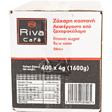 Ζάχαρη RIVA CAFÉ καστανή σε sticks (400x4g)