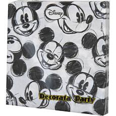 Χαρτοπετσέτες με σχέδιο Mickey Faces 33x33cm δίφυλλες (25τεμ.)