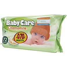 Μωρομάντηλα BABYCARE Chamomile με εκχύλισμα χαμομηλιού (72τεμ.)