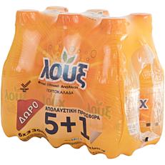 Αναψυκτικό ΛΟΥΞ πορτοκαλάδα pet (6x300ml)