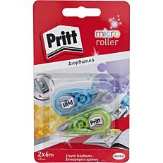 Διορθωτικό PRITT roller micro rolly bleu & green (2τεμ.)