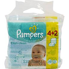 Μωρομάντηλα PAMPERS fresh clean (6x64τεμ.)