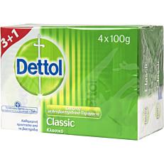 Σαπούνι DETTOL Classic πλάκα (4x100g)
