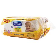 Μωρομάντηλα SEPTONA calm n' care chamomile (3x64τεμ.)