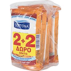 Υγρά μαντηλάκια SEPTONA Refresh άνθος πορτοκαλιού (4x15τεμ.) (2+2 δώρο)